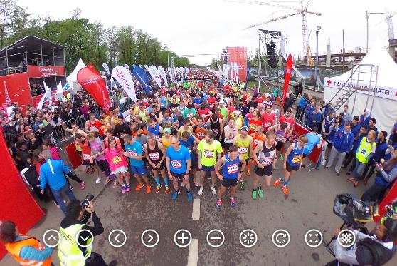 Московский полумарафон: панорама старта