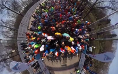 Забег Апрель, видео в 360